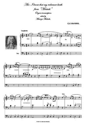 "Sheet Music ARIA: ""I know that my redeemer liveth"""