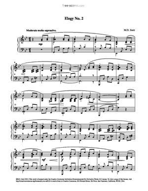 Sheet Music Elegy No. 2