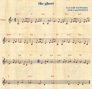 Sheet Music the ghost irish fiddle abelle lades neffous