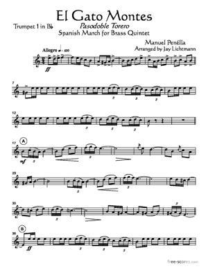 Sheet Music El Gato Montes (Pasodoble Torero)