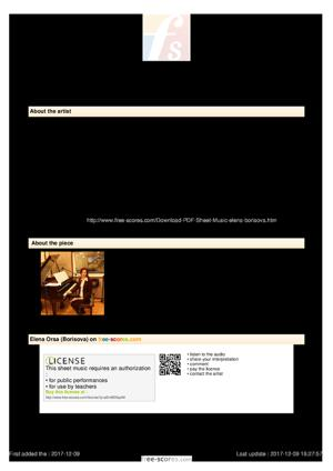 Sheet Music Light Waltz for piano 4 hands