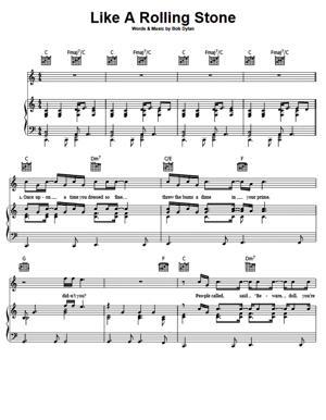 Sheet Music Bob Dylan - Like A Rolling Stone