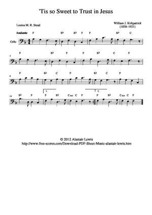 Sheet Music 'Tis so Sweet to trust in Jesus