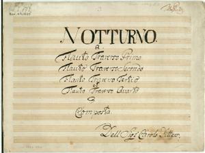 Sheet Music Notturno for 4 Flutes in D major