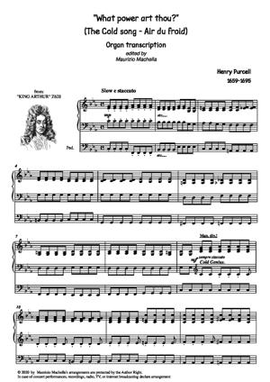 """Sheet Music """"The cold Song"""" (""""Air du froid"""")"""