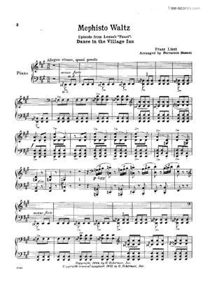 Sheet Music Mephisto Waltz No.1