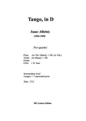 Sheet Music Tango, in D