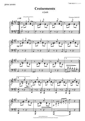 Sheet Music Croisements