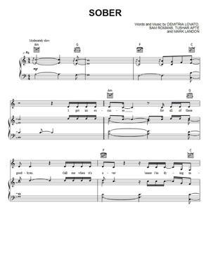 Sheet Music Demi Lovato - Sober
