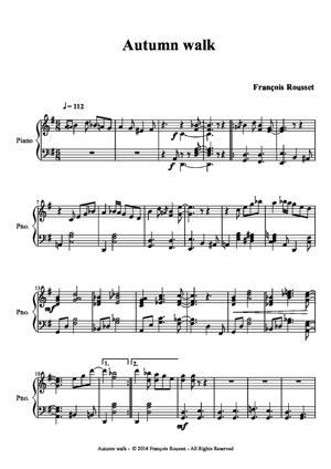 Sheet Music François Rousset - Autumn Walk