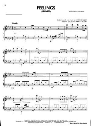 Sheet Music Richard Clayderman - Feelings