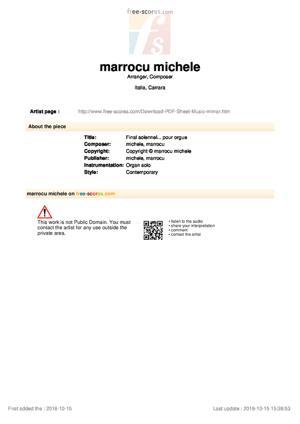 Sheet Music Final solennel... pour orgue