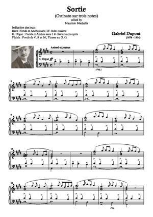 Sheet Music Sortie (Ostinato sur trois notes)