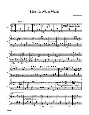 Sheet Music Black and White waltz