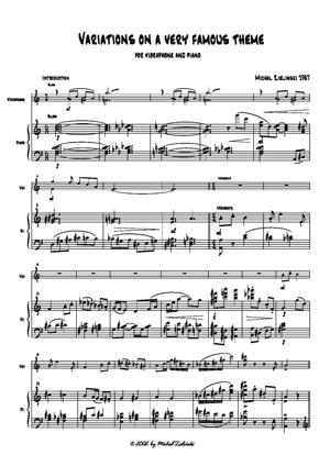 Sheet Music Variations on a Theme by Paganini