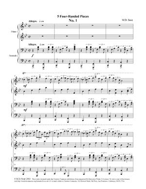 Sheet Music 5 Four-handed Pieces No. 1