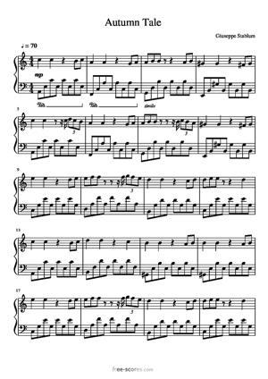 Sheet Music AUTUMN TALE