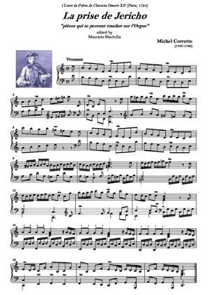 """Sheet Music La prise de Jericho """"pour le Clavecin ou l'Orgue"""""""
