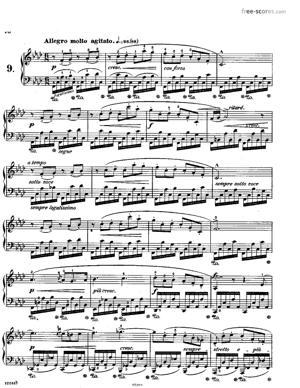 Sheet Music Etude No.9 in F minor