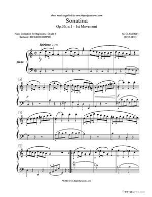 Sheet Music Sonatina