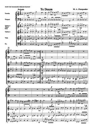 Sheet Music Te deum : Prelude