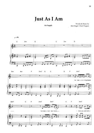 Sheet Music Air Supply - All Out Of Love