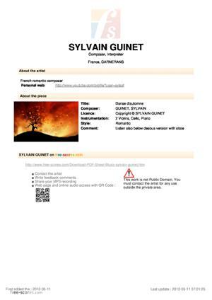 Sheet Music Danse d'automne