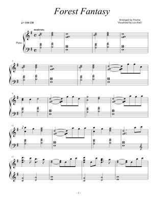 Sheet Music Yiruma - Forest Fantasy