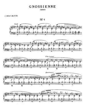 Sheet Music Gnossiennes 1 to 3