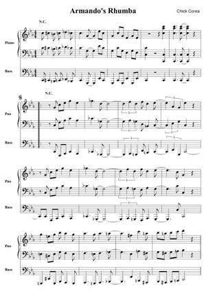 Sheet Music Chick Corea - Armando's Rhumba