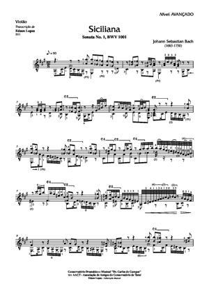 Sheet Music Siciliana