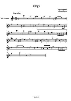 Sheet Music Elegy