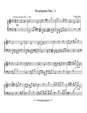 Sheet Music Nocturne No. 1