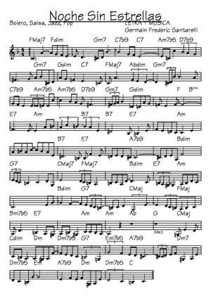 Sheet Music noche sin estrellas