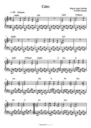 Sheet Music Calm