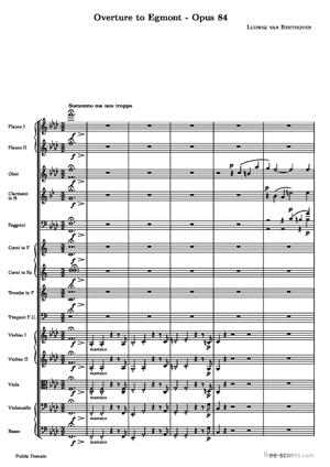 Sheet Music Overture to Egmont