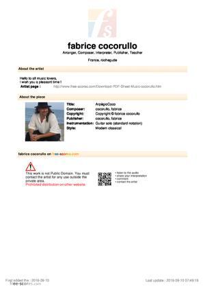 Sheet Music ArpègioCoco