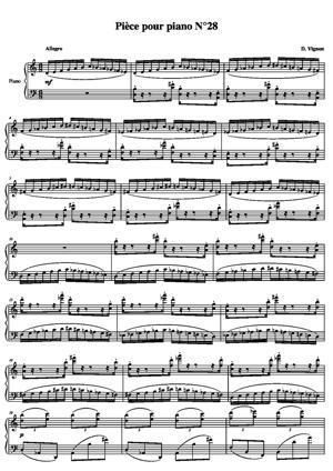 Sheet Music Piece for piano No. 28