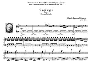 Sheet Music Tapage [ Tapage - Gratieusement - L'on Reprend Le Tapage]