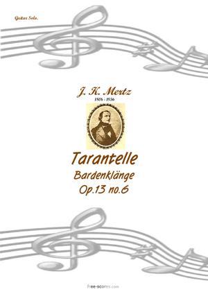 Sheet Music Tarantelle
