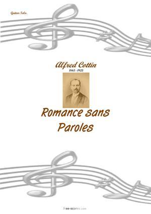 Sheet Music Romance sans Paroles