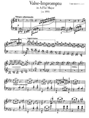Sheet Music Valse Impromptu