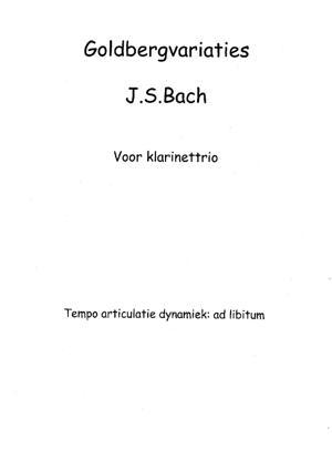 Sheet Music Goldbergvariaties