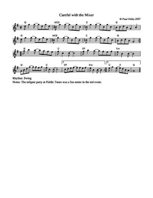 Sheet Music Careful with the Mixer