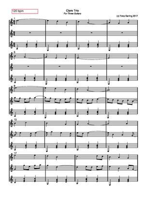 Sheet Music Clare Trio