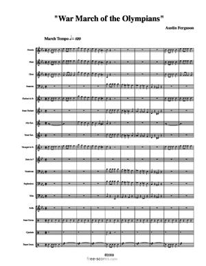"""Sheet Music """"War March of the Olympians"""""""
