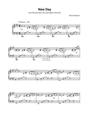 Sheet Music Philip Wesley - New Day
