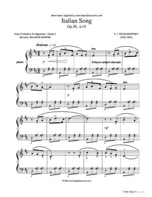Sheet Music Italian Song