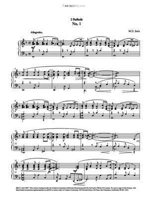 Sheet Music 2 Ballads No. 1