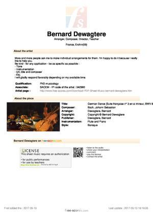 Sheet Music German Dance